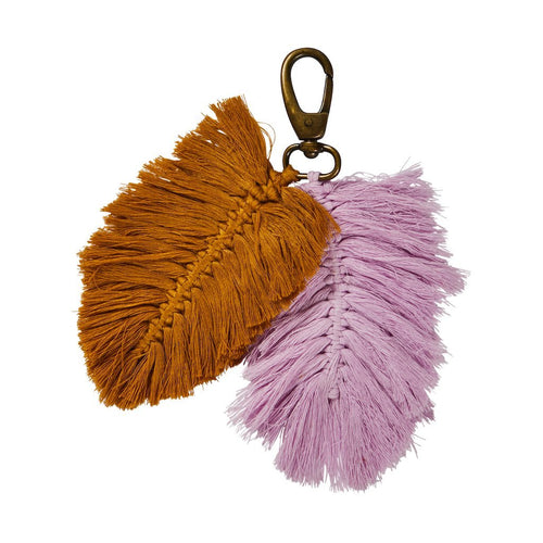 Sierra Macrame Key Ring - Taffy/Tan