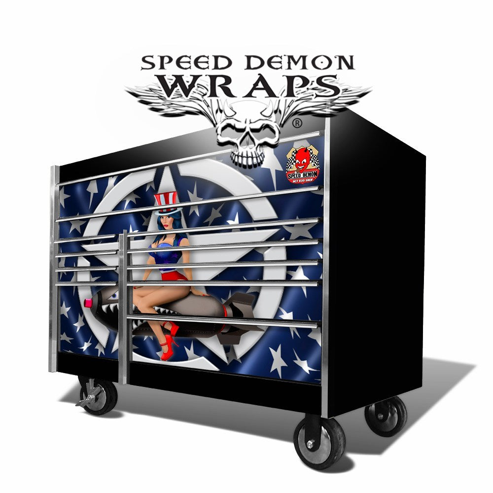 Snap-On Tool Box Graphics Wrap Skins American Pin-Up
