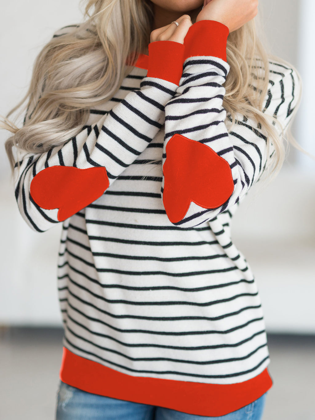 Heart On My Sleeve Striped T-shirt