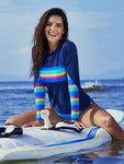 Free Shipping Rainbow Colorblock 2-pieces Surfing