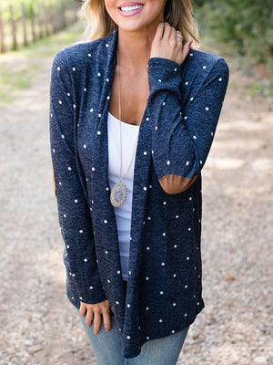 Long Sleeve Polka Dot Cardigans