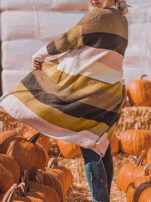Desert Sunrise Colorblock Sweater Cardigan