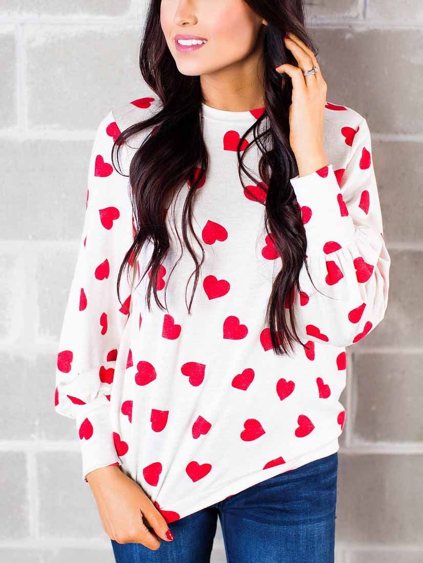 Valentine's Day Heart Long Sleeve T-shirt