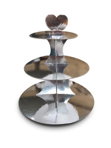 Silver Cupcake Stand 3-Tier