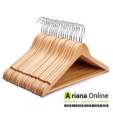 Load image into Gallery viewer, Ariana Homeware® Natural Wooden Hangers Grade A