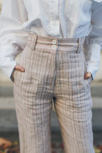 Load image into Gallery viewer, Pink Striped Straight Trousers