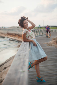 Light Blue Skirt & Lurex
