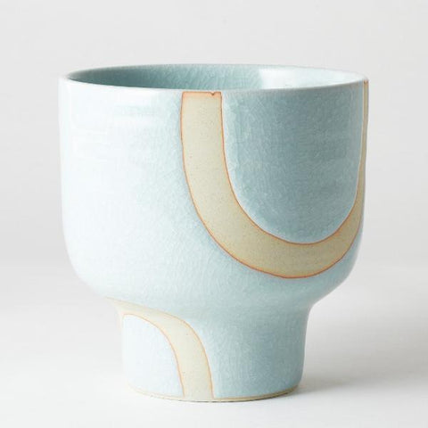 Riverstone Pot - Aqua Bend