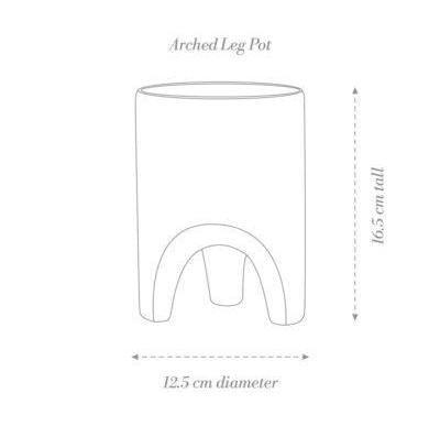 Arched Leg Plant Pot (Small) - White