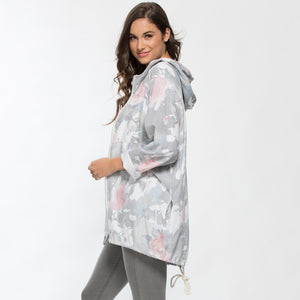 ROSE PRINT ZIP JACKET 34318