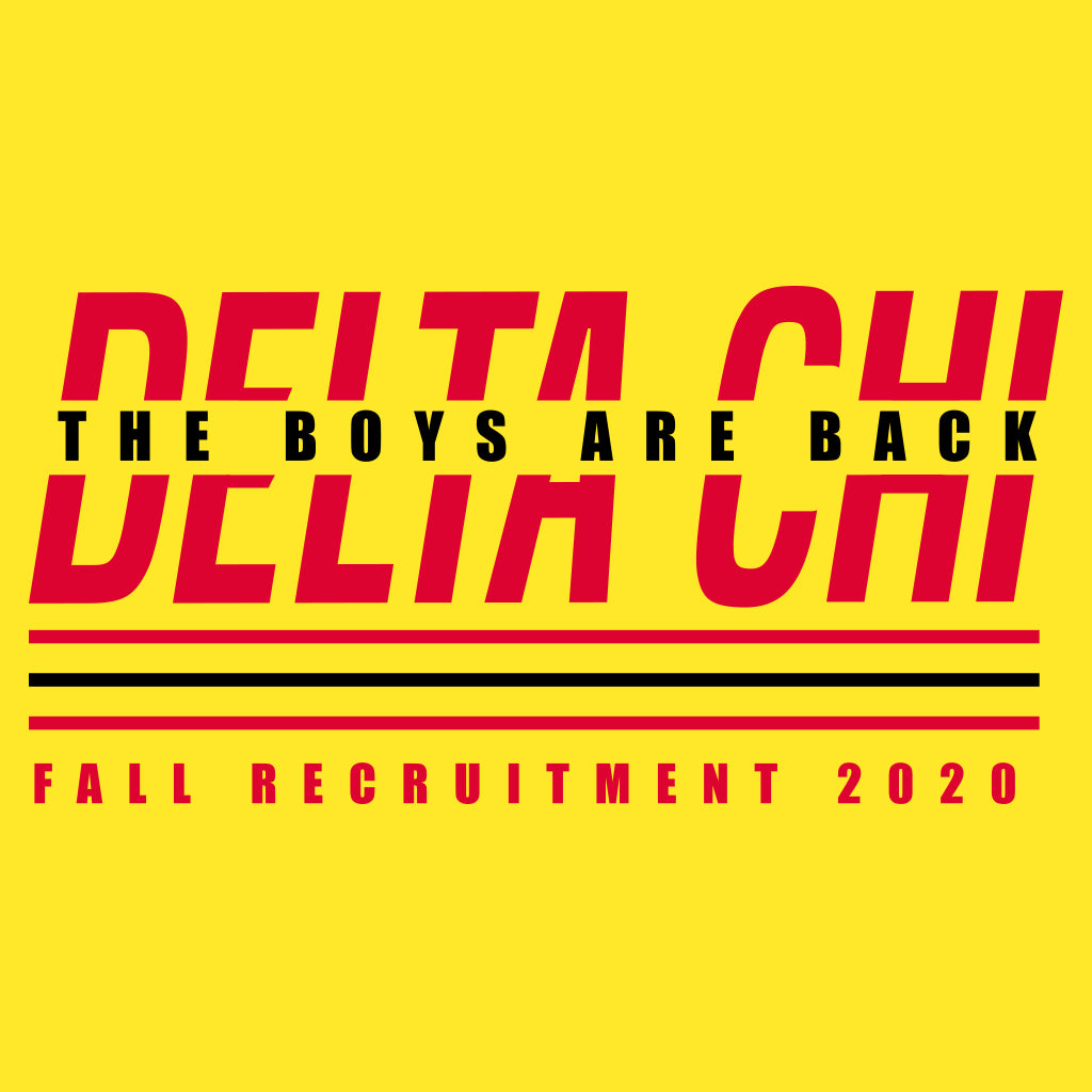 Delta Chi Minimal Fall Recruitment Design