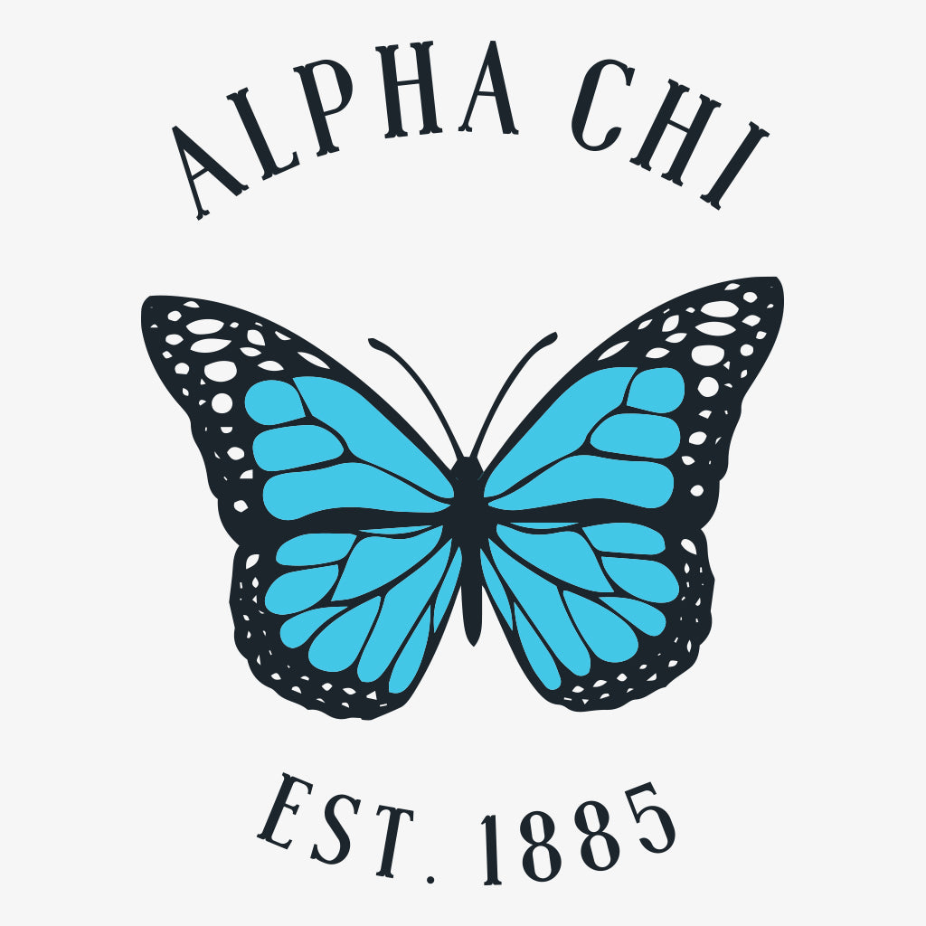 Alpha Chi Omega Butterfly Work Week Design