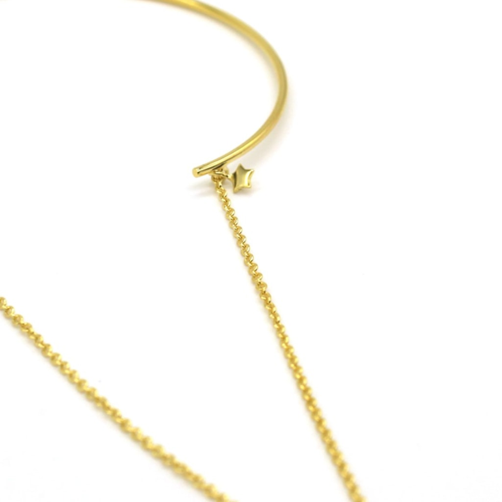 Clementia - Star Chain Bangle Gold Plated Silver