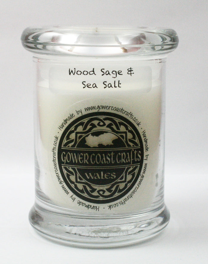 Wood Sage & Sea Salt Handpoured Highly Scented Medium Candle Jar