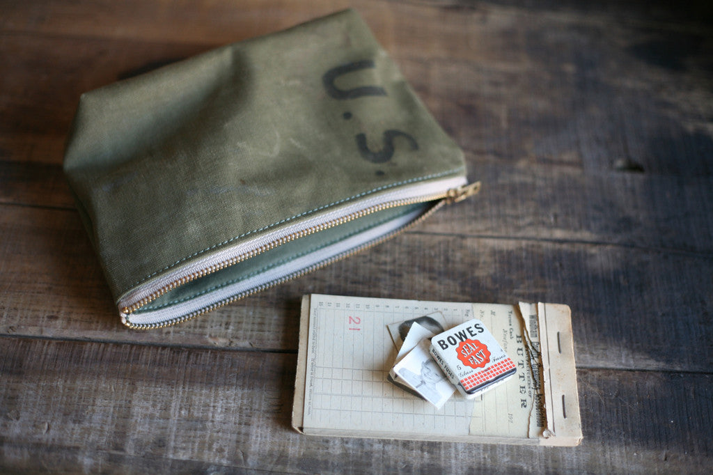 WWII era Canvas Utility Pouch - SOLD