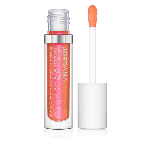 Cosmic Glow Holographic Lip Gloss - 04 Chromatic Peach