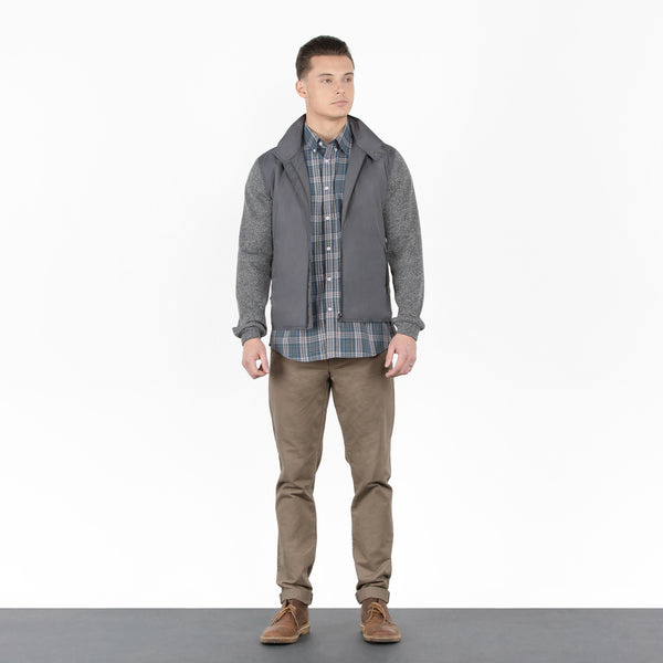Grey Knit Nylon Jacket