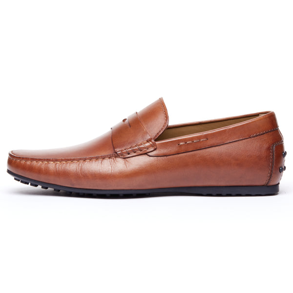 Brown Leather Driving Loafer