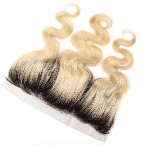 Lace frontal Blonde color #1B613 body wave 13*4inch