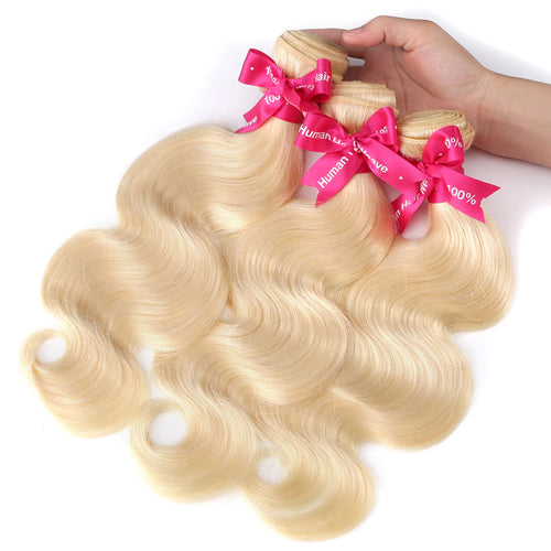 Human Remy Blonde Hair #613 Natural Body wave