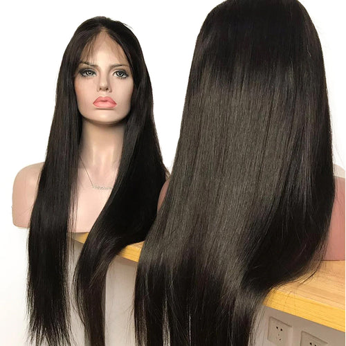 Undetectable transparent lace best virgin straight hair full lace wig
