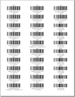 Part Barcodes by Location - Avery