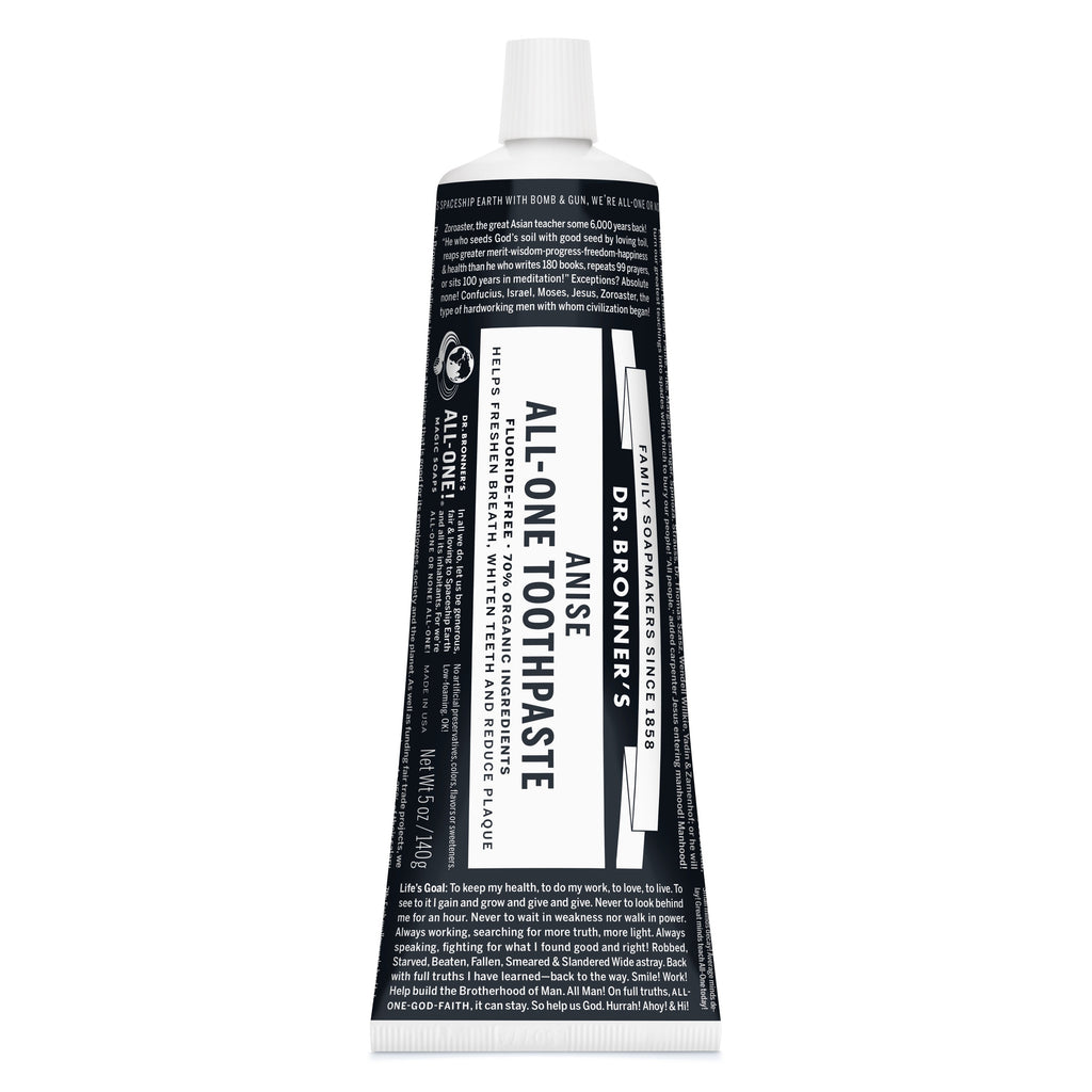 Dr. Bronner's All-One Organic Anise Toothpaste 140g