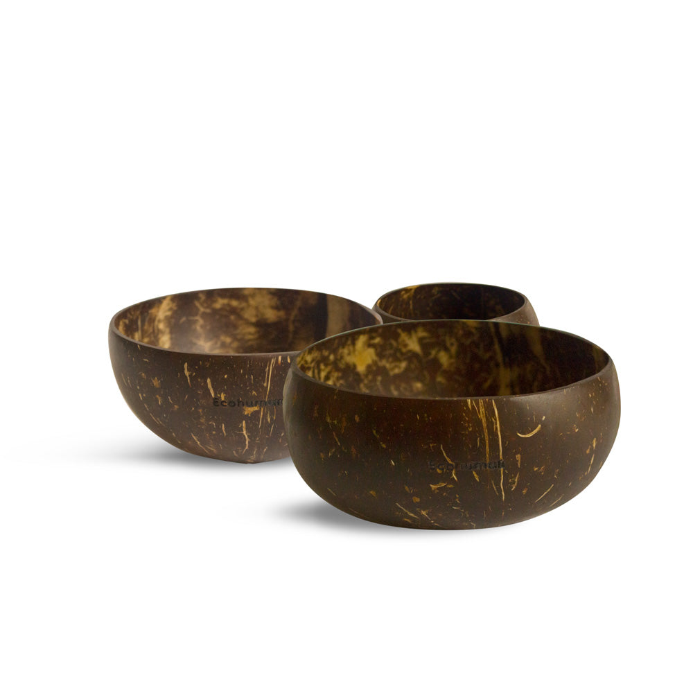 Ecohuman Coconut Bowls - Set of 3