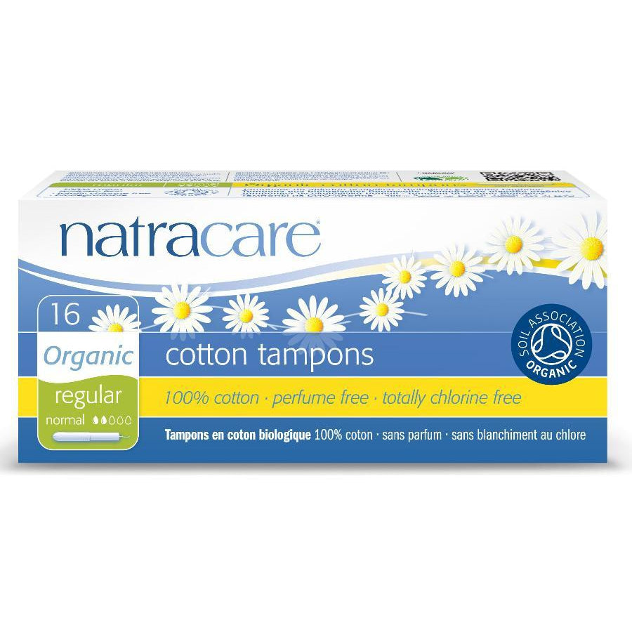 Natracare Organic Applicator Tampons Regular 16s