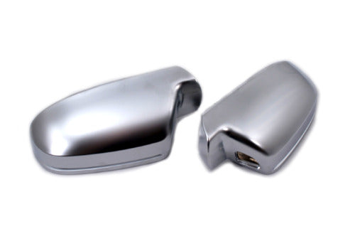 S Line Style Matt Chrome Side Mirror Cap Replacement (Lane Assist Version) - A4 B8 / A5 8T Facelift