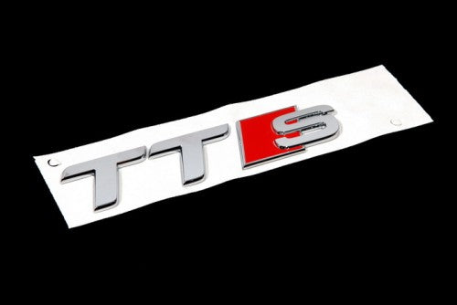 'TTS' Chrome Trunk Emblem