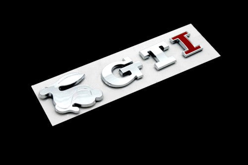 Rabbit & GTI Emblem (Red 'I' Version)