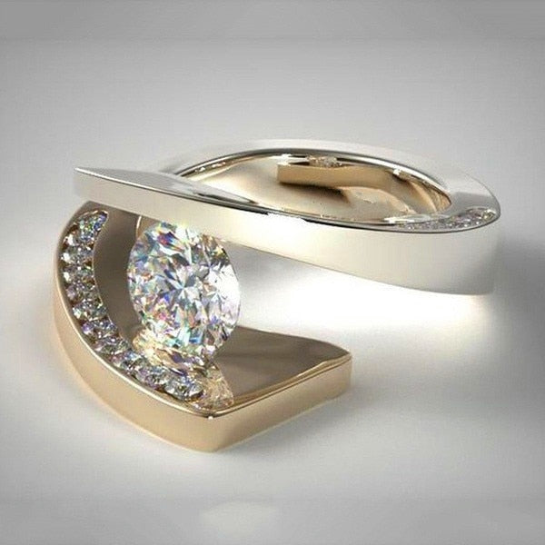 Luxurious Crystal Stone Ring - Hellopenguins