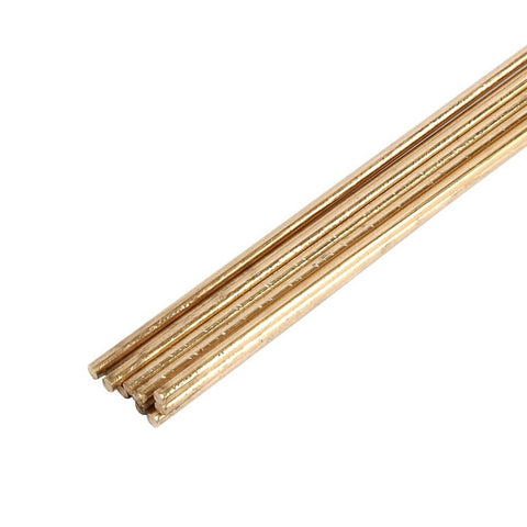 "Forney Gas Brazing Rod, Low Fuming Bare Brass, 1/8"" x 18"", 10 Rods"