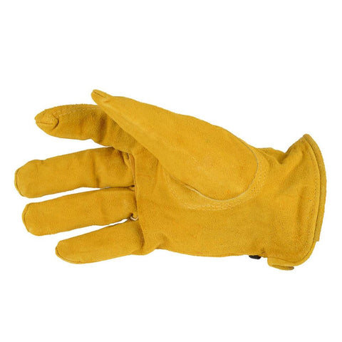 Forney Suede Cowhide Leather Driver Work Gloves (Men's L)