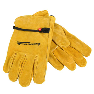 Forney Lined Suede Cowhide Leather Driver Work Gloves (Men's M)