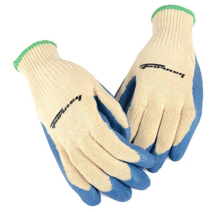 Forney Latex Coated String Knit Gloves (Size M)