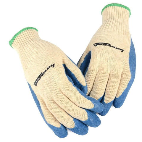 Forney Latex Coated String Knit Gloves (Size L)