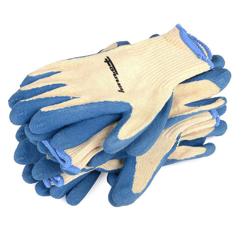 Forney Latex Coated String Knit Gloves, 6-Pack (Size L)