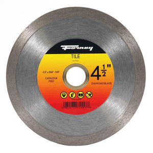 Forney Diamond Tile-Cutting Blade, 4-1/2""