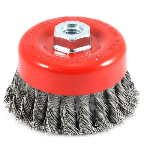 "Cup Brush Knotted, 4"" x .020"" x 5/8""-11 Arbor"