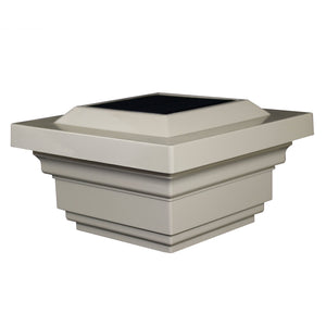 4x4 TAN PVC REGAL SOLAR POST CAP