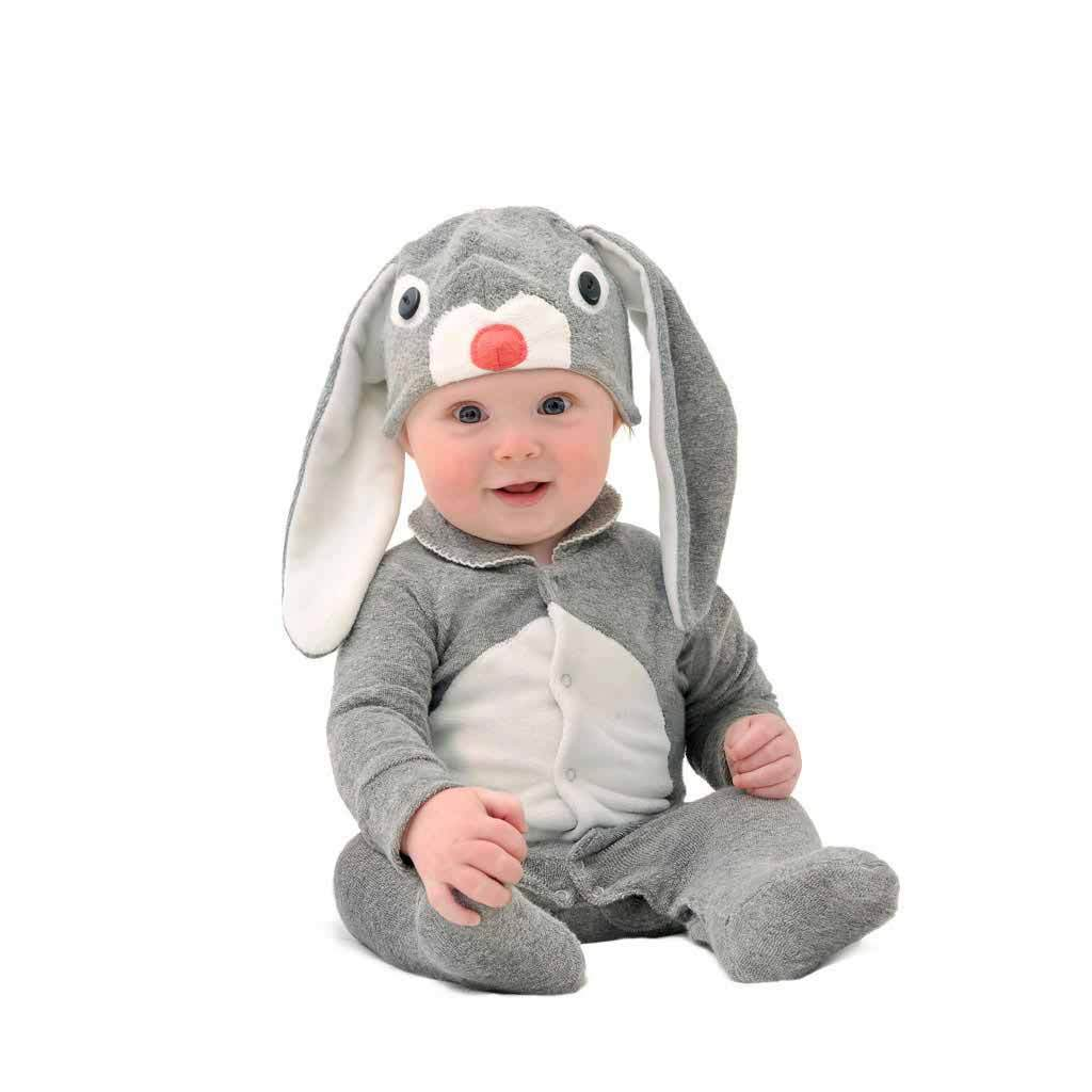 Grey Cotton Baby Bunny Costume