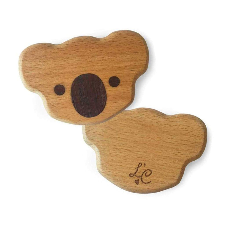 Personalised Eco Wooden Baby Koala Rattle