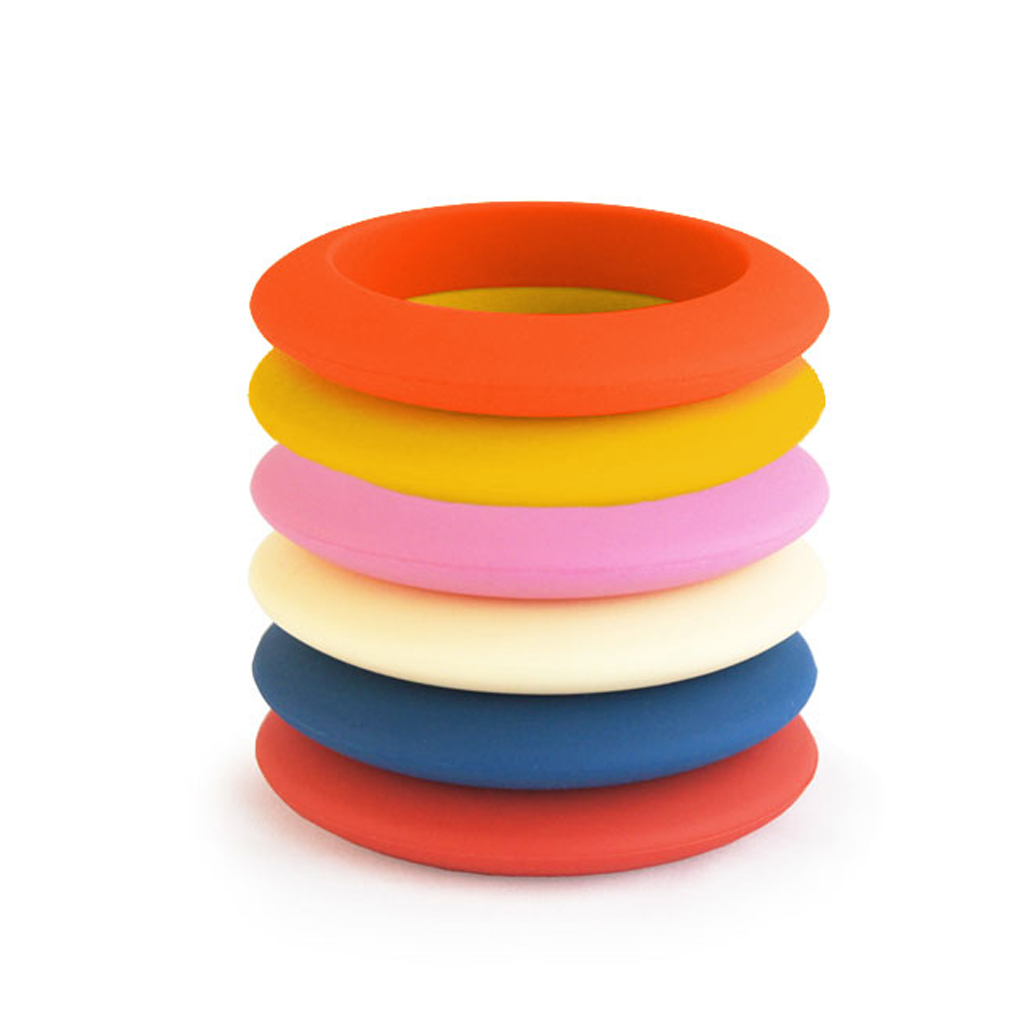 Round Silicone Teething Bangle