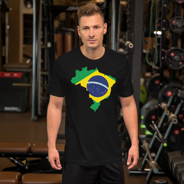 Brasil & Flag, Short-Sleeve Men's & Women's T-Shirt