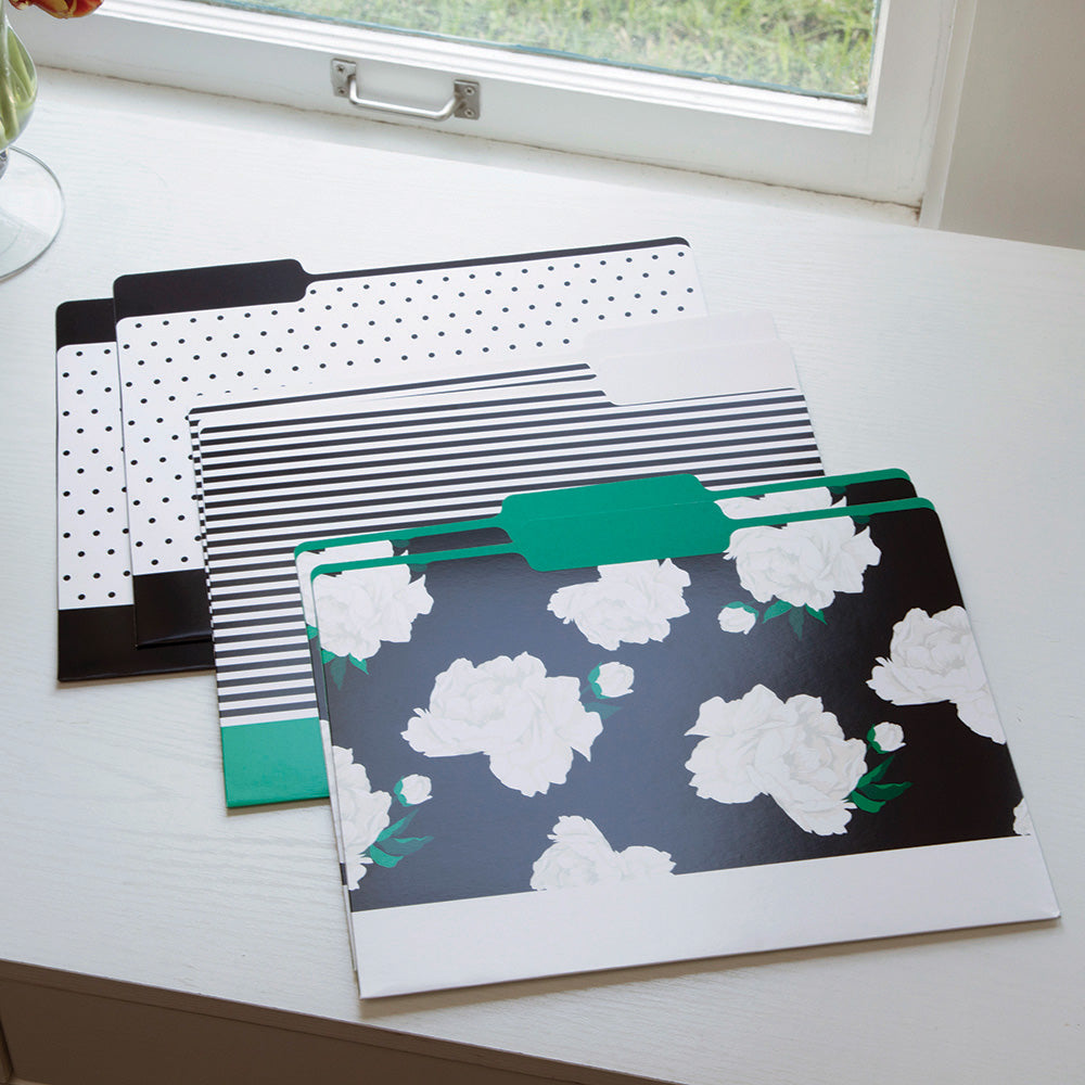 See Jane Work® File Folders, Floral Dot