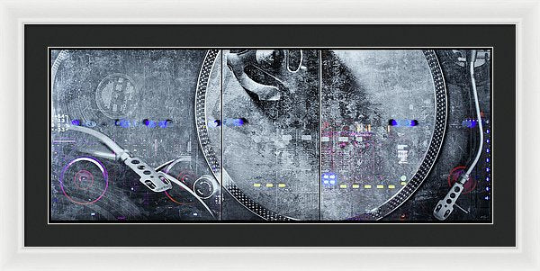 Dj Vision Mix - Framed Print - SEVENART STUDIO