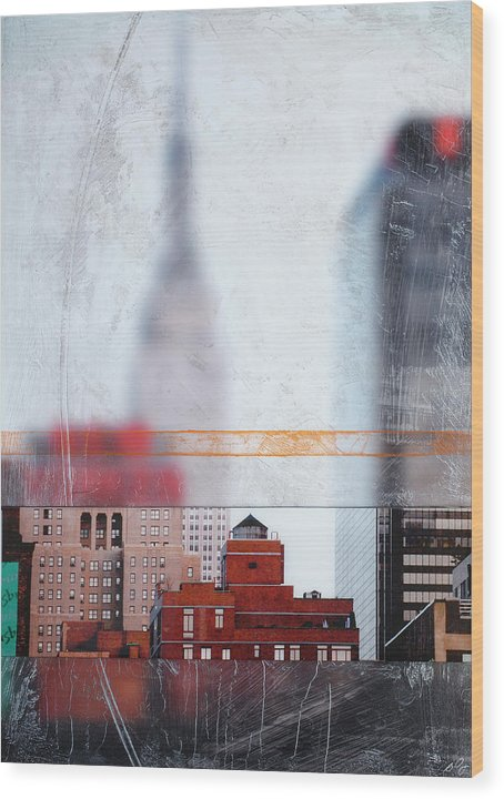 Empire State Blur - Wood Print - SEVENART STUDIO