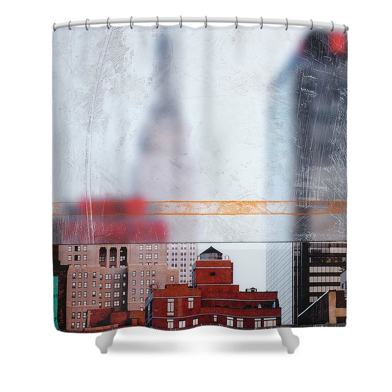 Empire State Blur - Shower Curtain - SEVENART STUDIO
